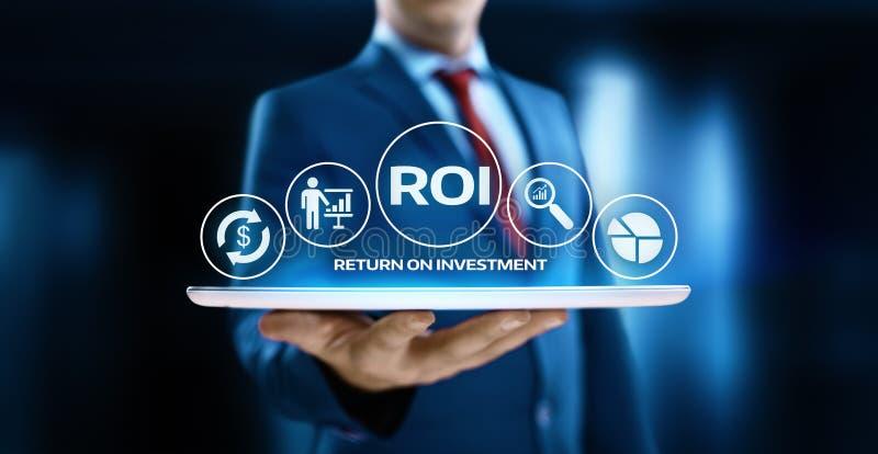 财务赢利成功互联网企业技术概念的ROI回收投资 免版税图库摄影