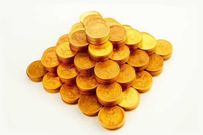 财务金字塔 免版税库存照片