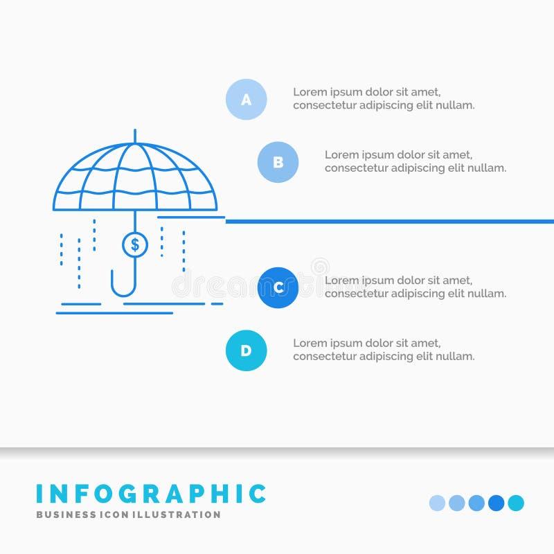 财务,财政,保险、金钱、保护Infographics模板网站的和介绍 r 向量例证