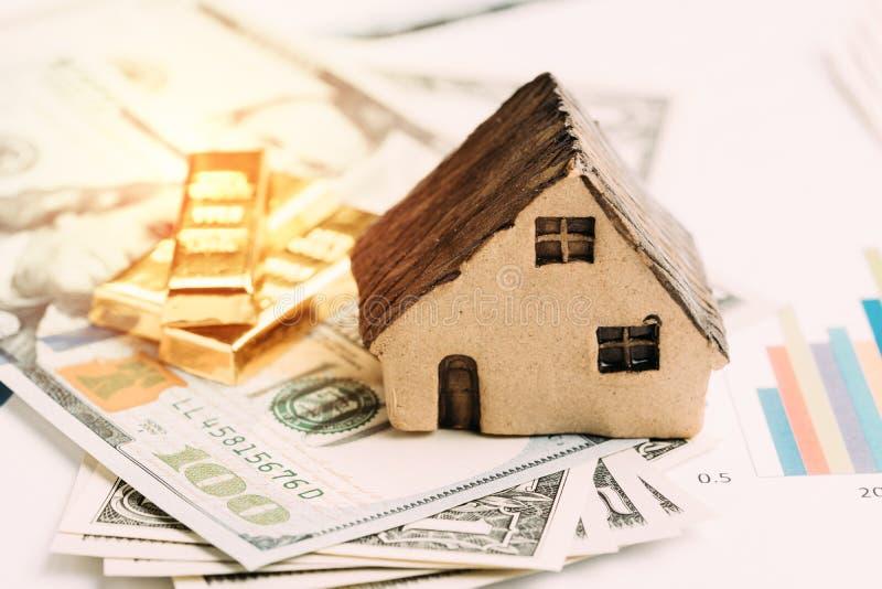 财富管理或投资财产分派概念,房子, 库存图片