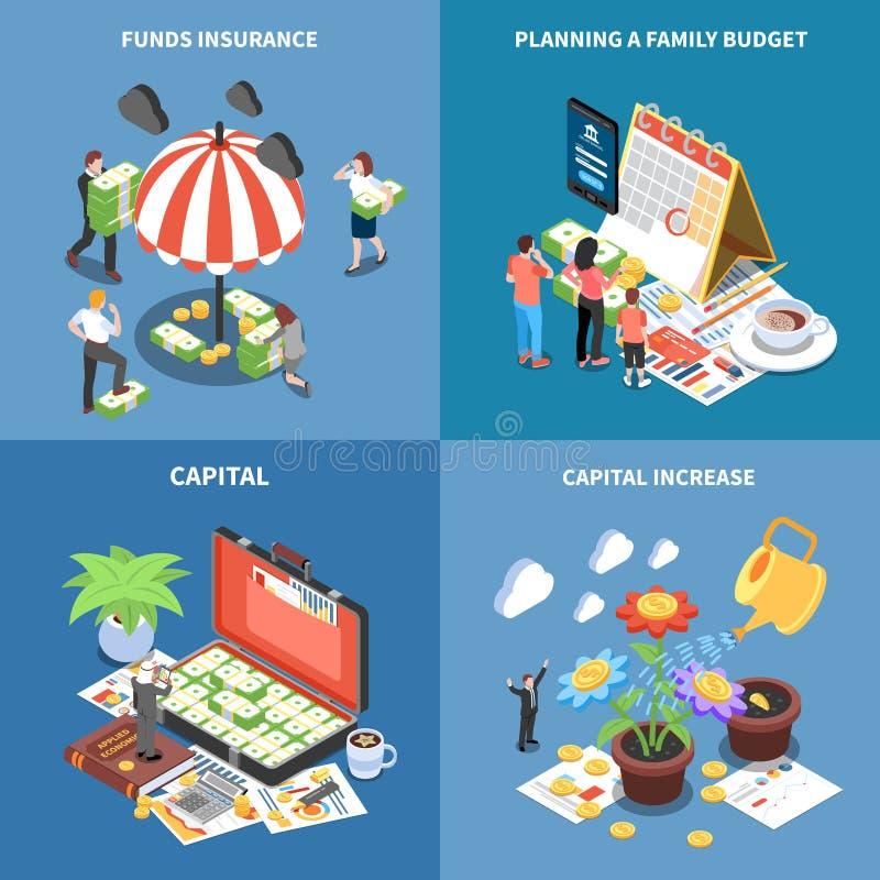 财富管理等量设计观念 向量例证