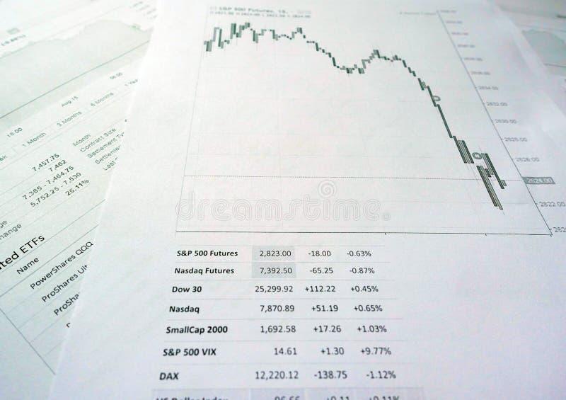 财政业绩图 库存照片
