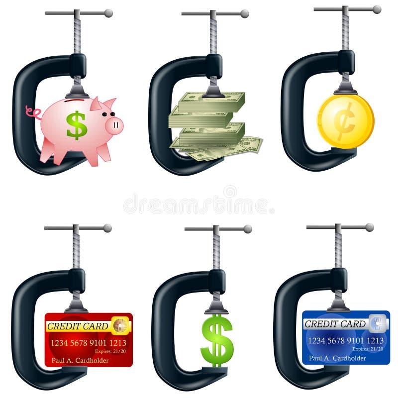 财政压力恶习 向量例证