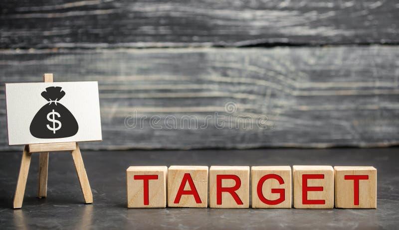 财政和公司目标的概念 改进公司的销售的效率 达到事业的目标 免版税图库摄影