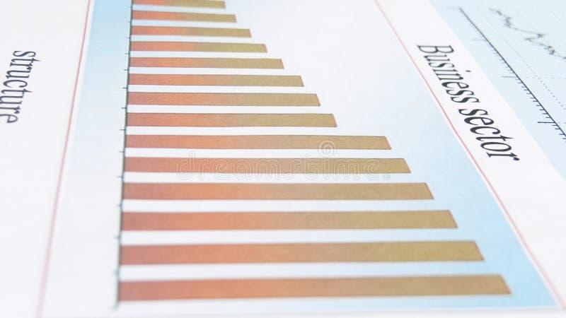 ?? 财政图的模糊的照片 r 免版税库存照片