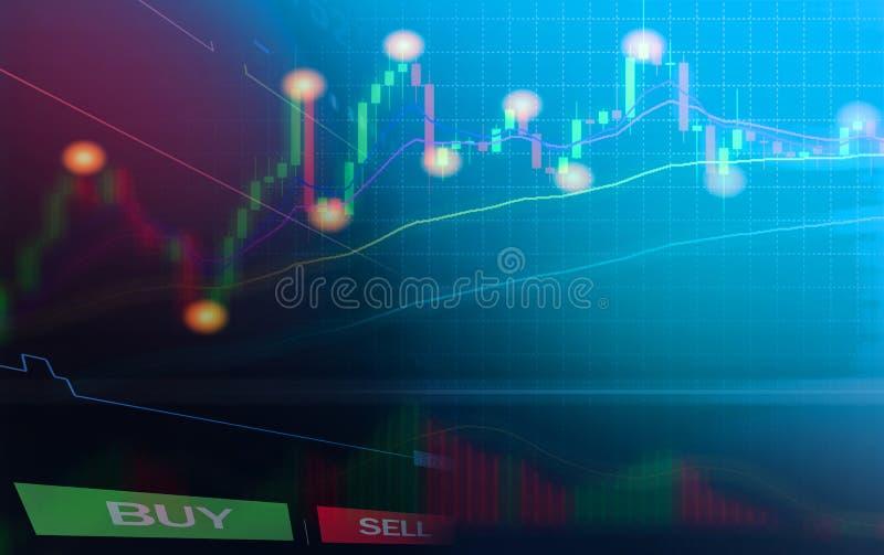 财政外汇图储蓄外汇贸易企业图表图注标委员会数据信息显示股票 向量例证
