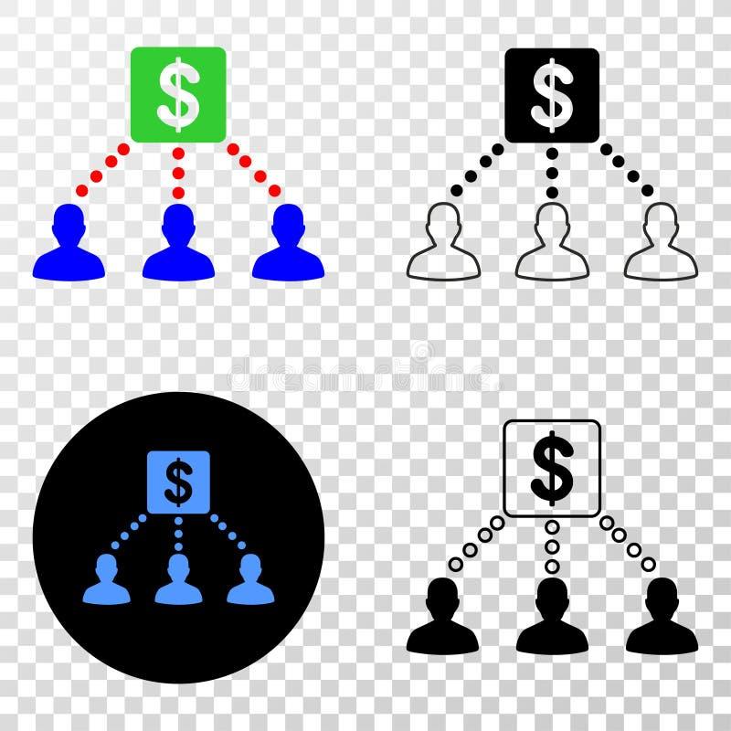 财政客户链接导航与等高版本的EPS象 向量例证