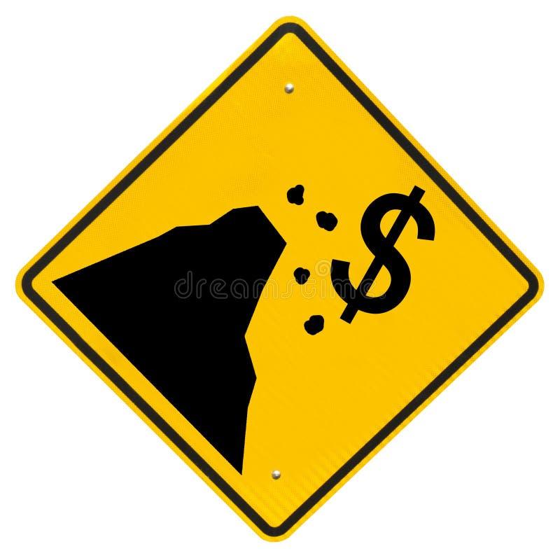 财政峭壁符号,查出在白色 免版税库存图片