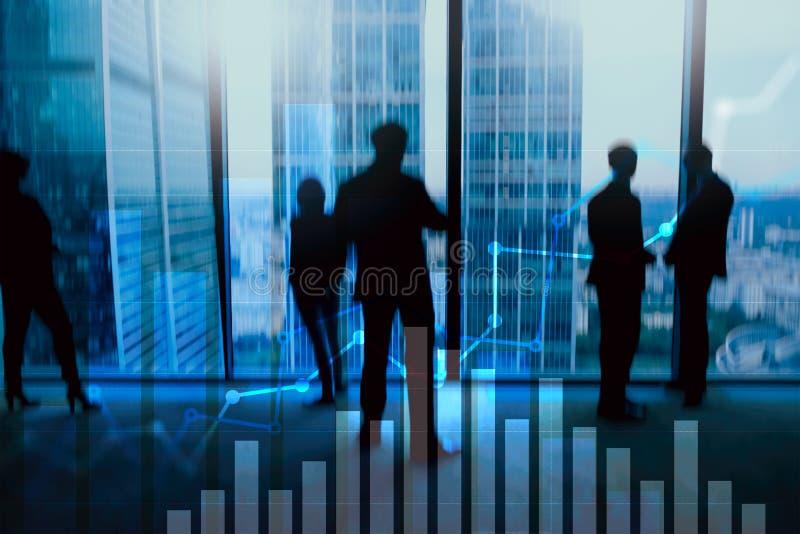 财政成长图表 Â销售增量,销售方针概念 皇族释放例证