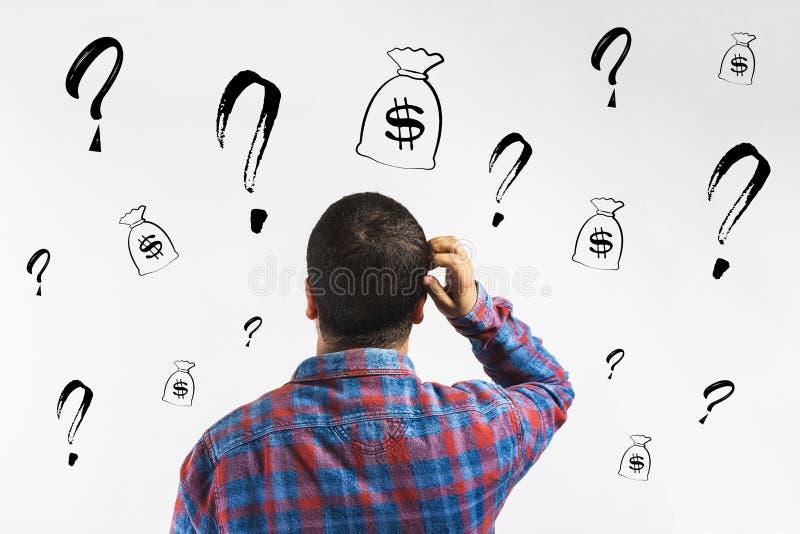 财政概念:信用,投资或者筹款,开始企业项目的金钱 向量例证