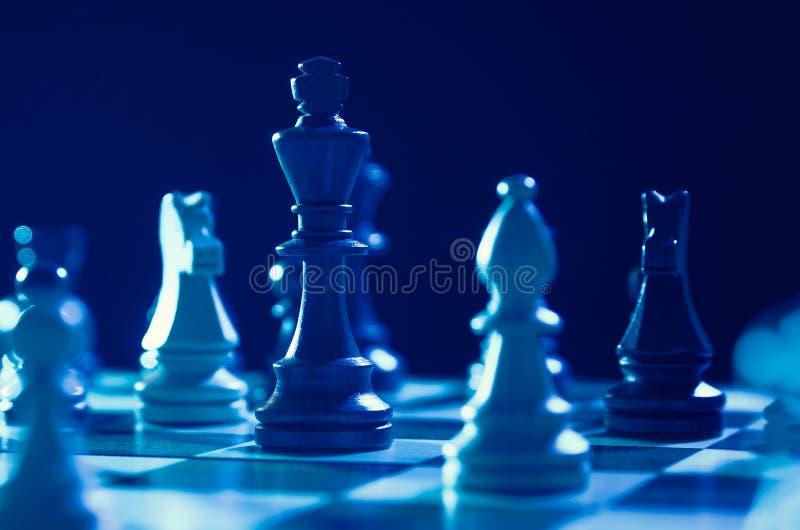财政的棋,在事务的领导战略 图库摄影