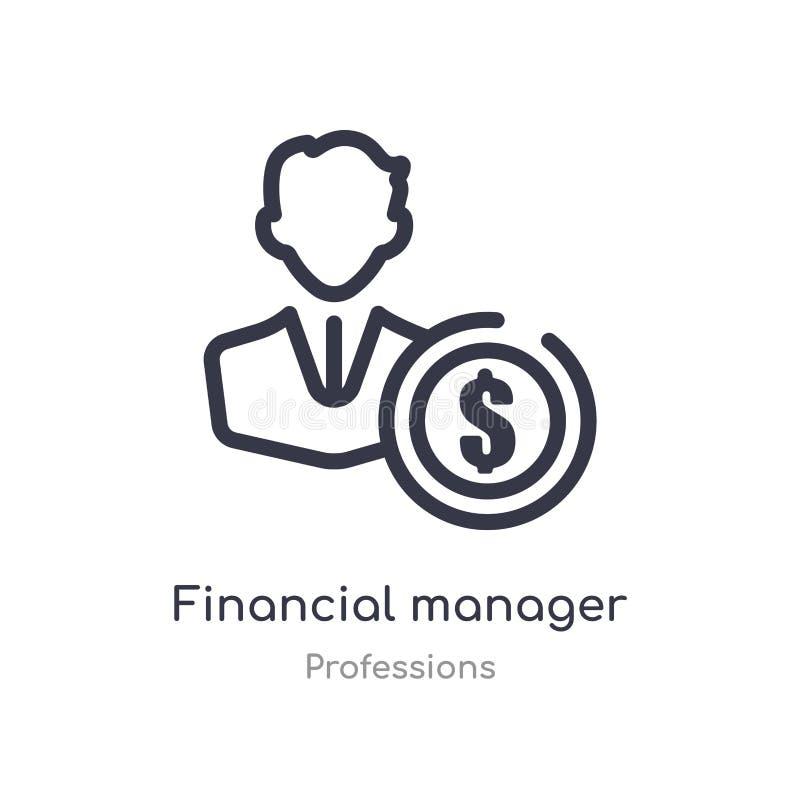财政经理概述象 r 财政编辑可能的稀薄的冲程 库存例证