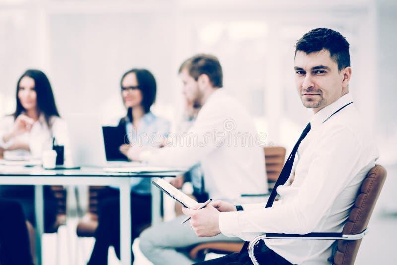 财政经理背景业务会议商务伙伴 免版税库存图片