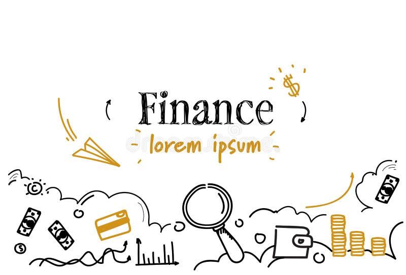 财政规划公司分析财务概念剪影乱画水平的被隔绝的拷贝空间 库存例证