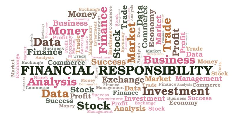 财政责任词云彩 向量例证