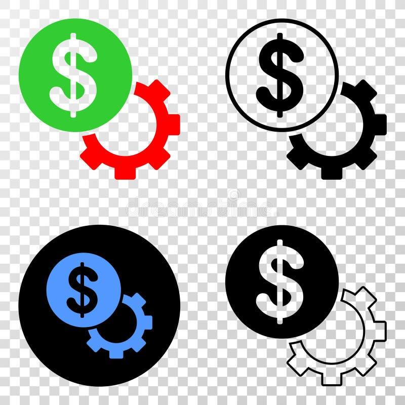 财政选择适应与等高版本的传染媒介EPS象 向量例证