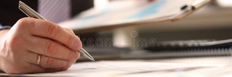 财政顾问会计年度预算 库存照片