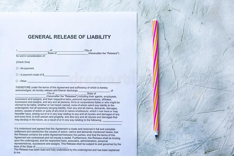 责任形式一般发行  免版税图库摄影