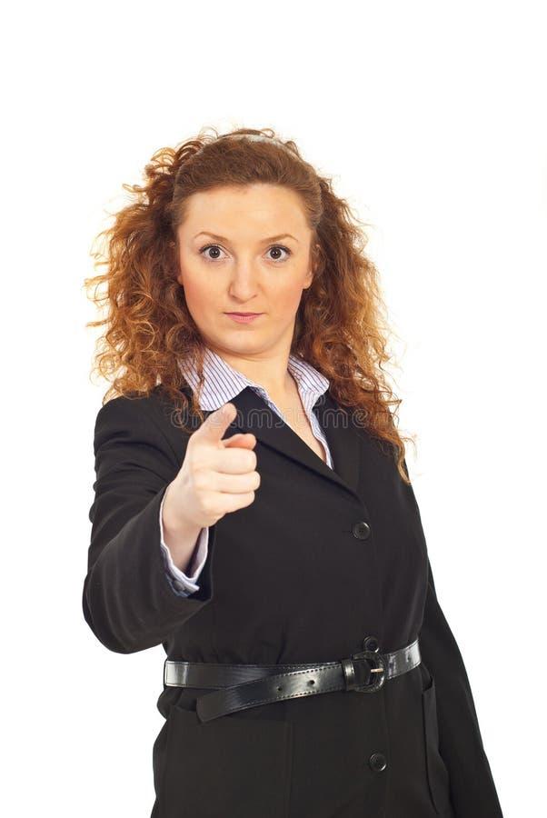 责难的行政严重的妇女您 免版税图库摄影