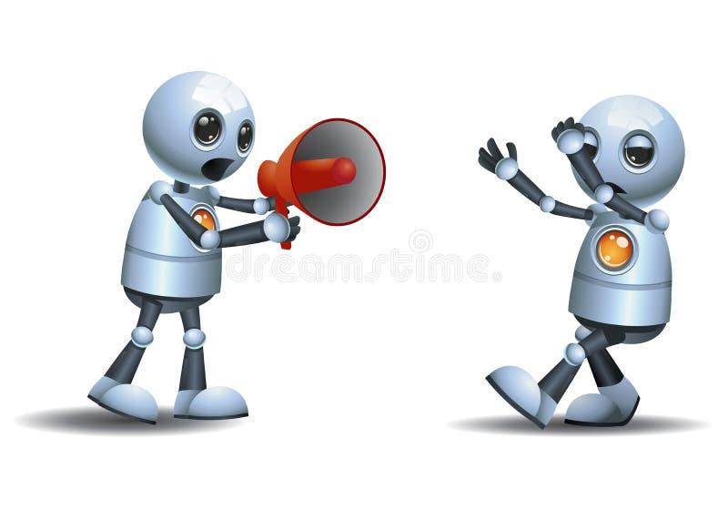 责骂使用扩音机的一点机器人 库存例证