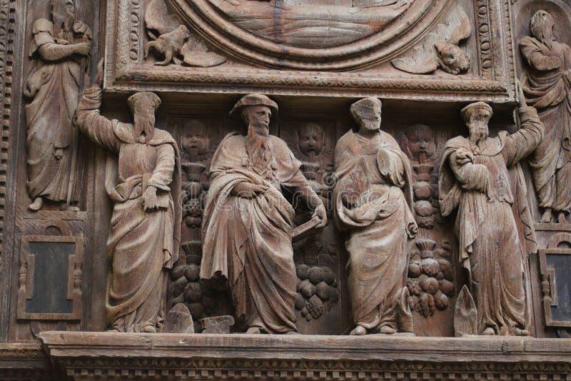 贤哲图在圣玛洛教堂的门 免版税库存图片