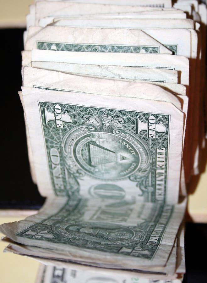 货币一团 图库摄影