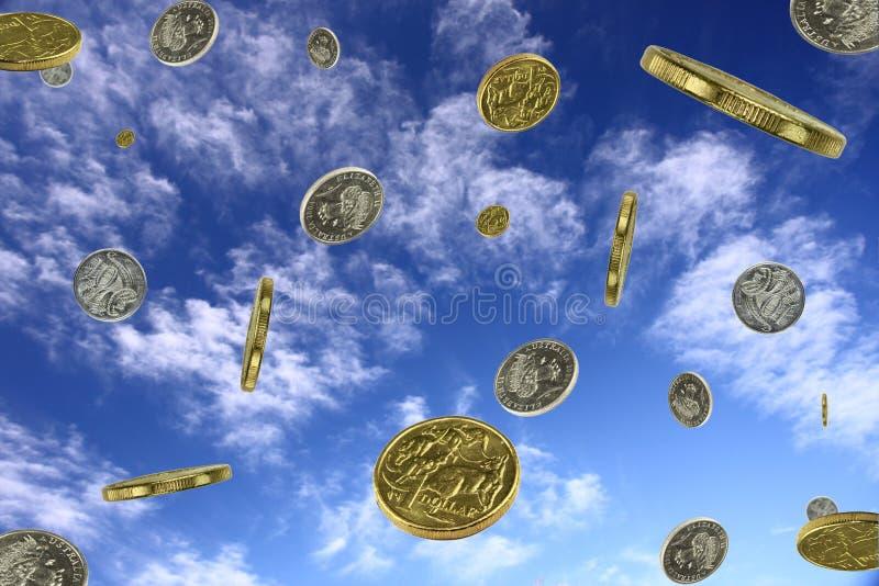 货币下雨 库存照片