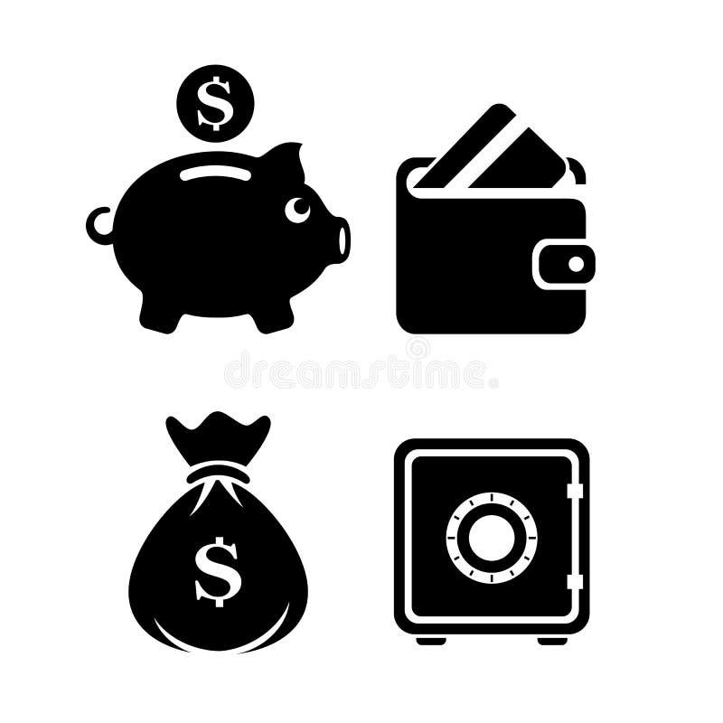 货币业务传染媒介象 向量例证