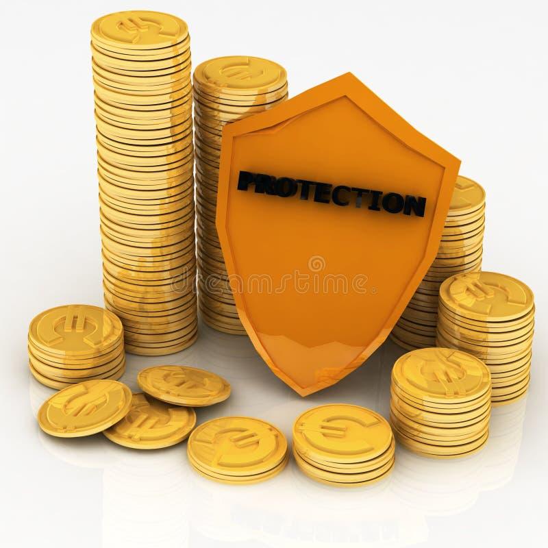 货币保护 皇族释放例证