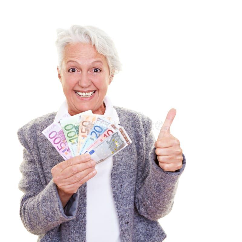 货币前辈妇女 免版税库存图片
