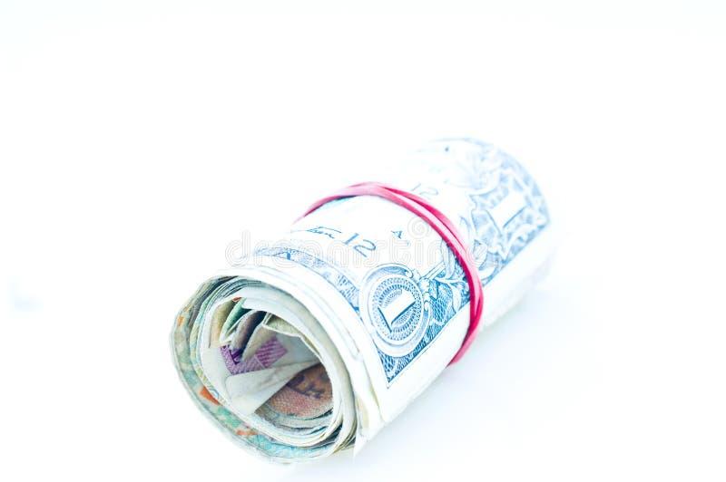 货币卷 免版税图库摄影
