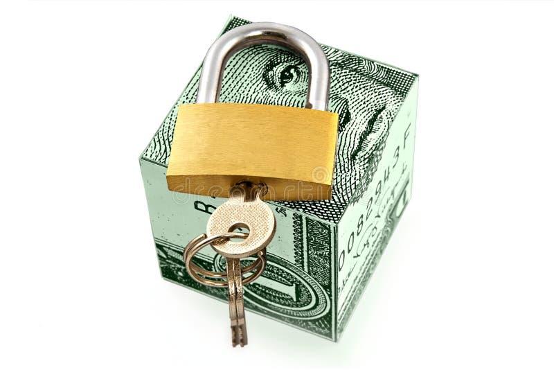 货币可靠的安全的存贮 免版税库存照片