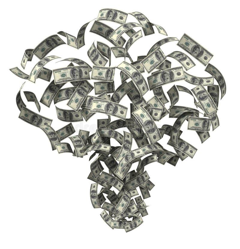 货币吹动 免版税库存图片
