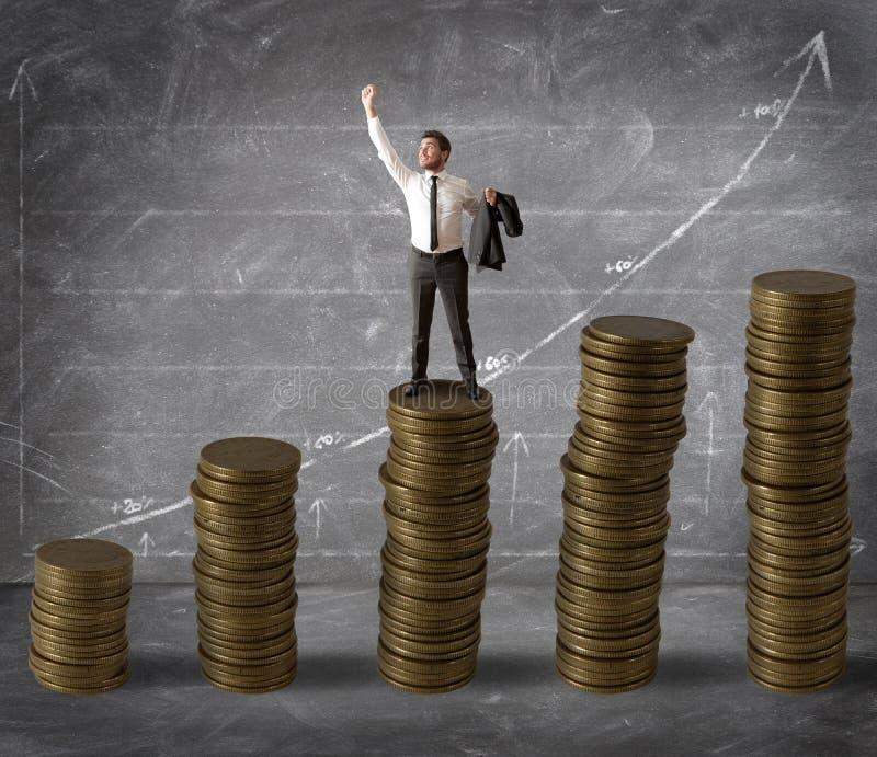 货币和成功 免版税库存图片