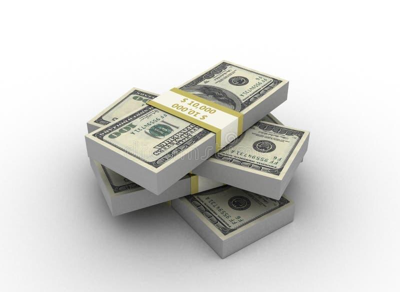 货币堆 库存例证