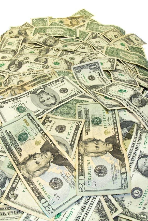 货币堆 库存图片
