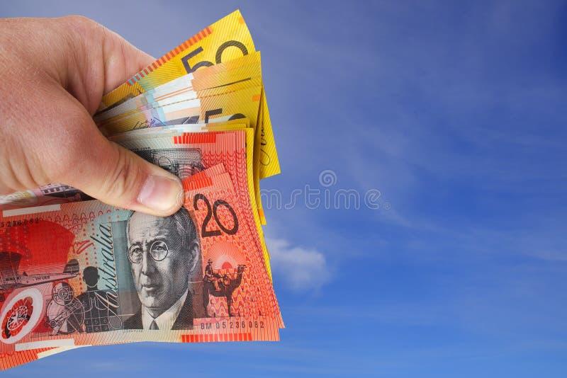 货币天空 库存图片