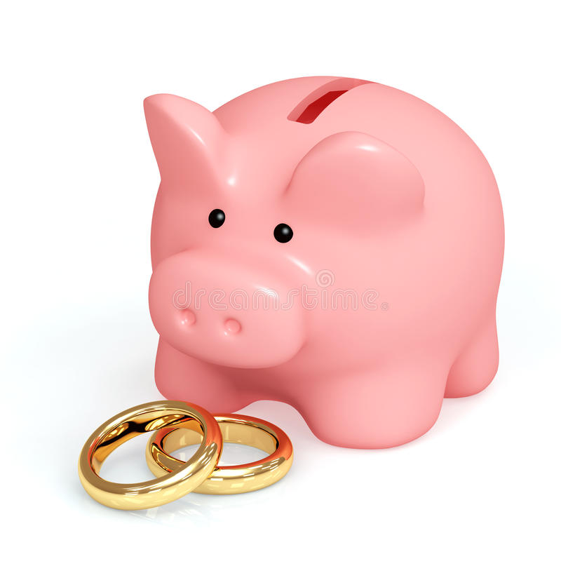 货币婚礼 皇族释放例证