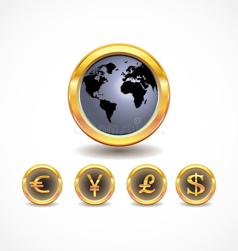 货币字 库存例证