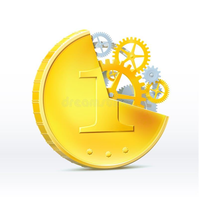货币应该运作 向量例证