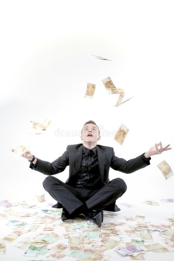 货币投掷 图库摄影