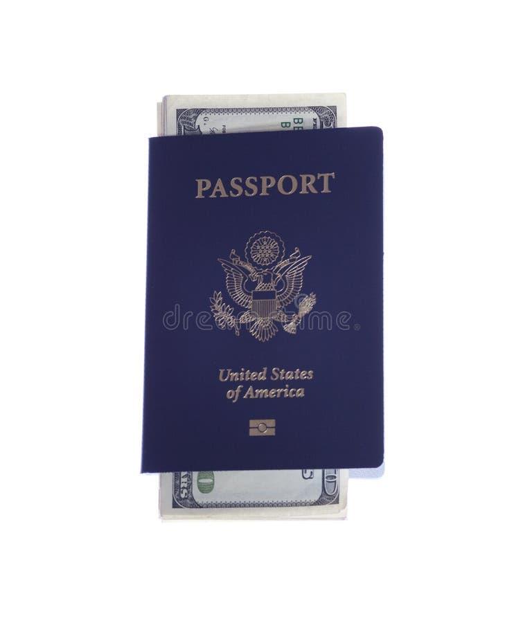 货币护照堆积我们 免版税库存图片