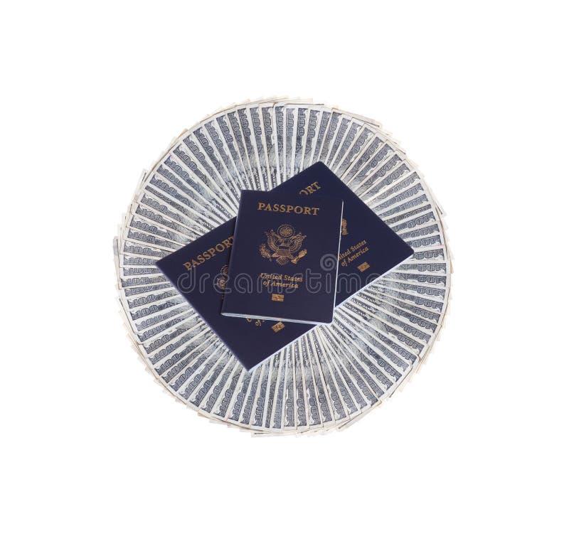 货币护照我们 库存图片