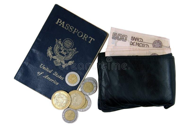 货币护照 图库摄影