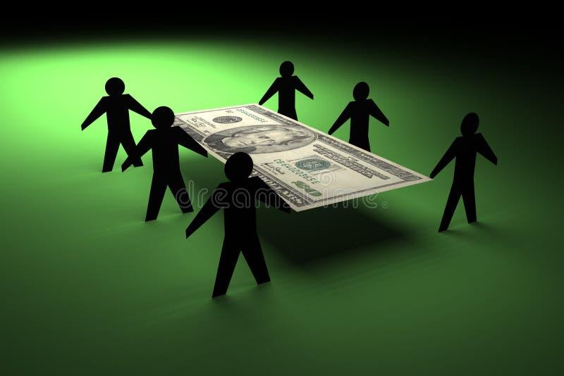 货币搬家工人 免版税库存照片