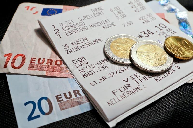 货币收货 库存照片