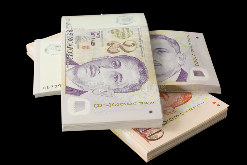 货币新加坡栈 免版税库存照片