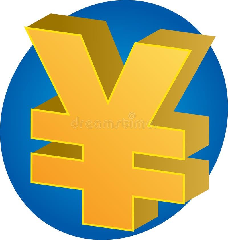 货币日元 向量例证
