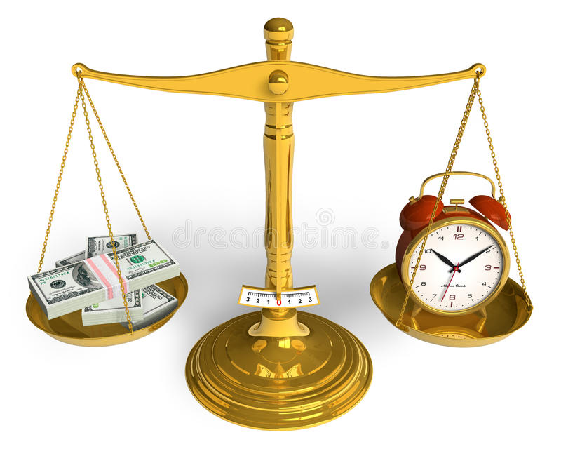 货币时间 库存例证