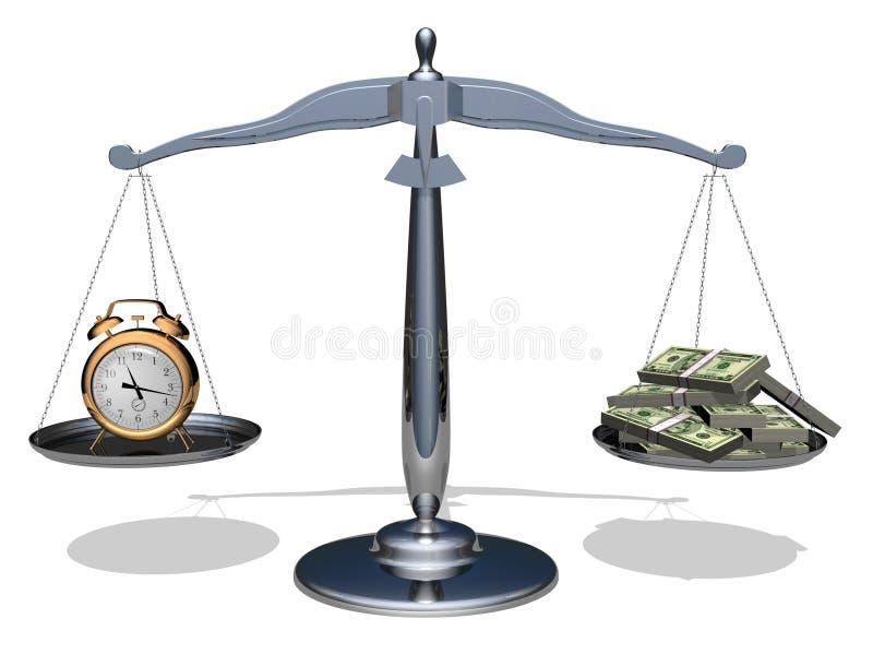货币时间 皇族释放例证